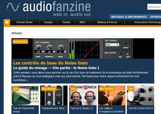 article noise gate audiofanzine