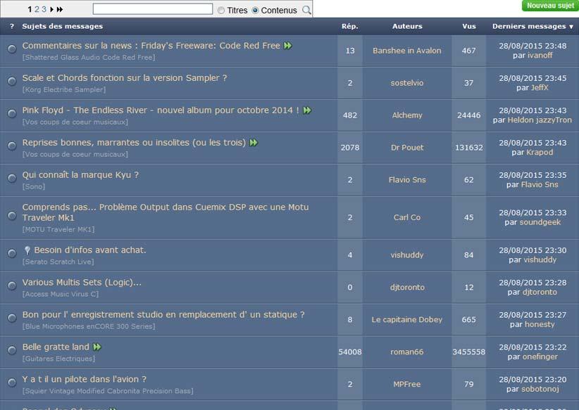 forum-audiofanzine
