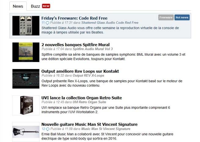 catégories news audiofanzine